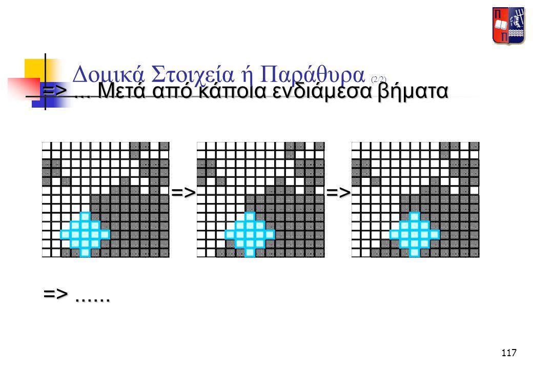 117 Δομικά Στοιχεία ή Παράθυρα (2/2) => ... Μετά από κάποια ενδιάμεσα βήματα =>=> => ......