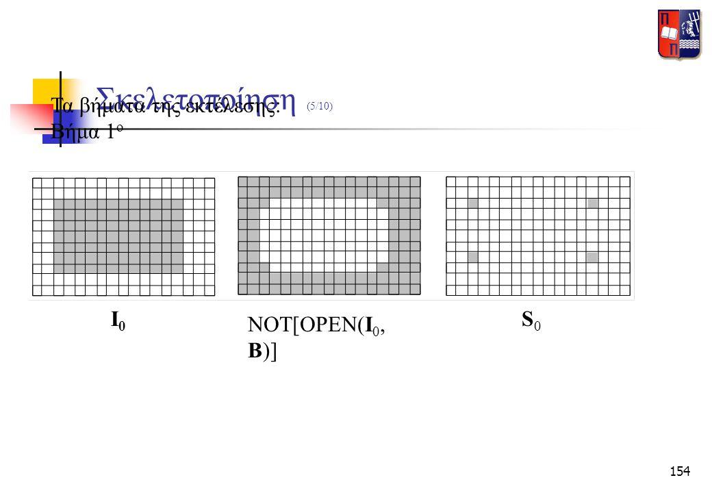 154 Σκελετοποίηση (5/10) Τα βήματα της εκτέλεσης: Βήμα 1 ο Ι0Ι0 NOT[OPEN(I 0, B)] S0S0