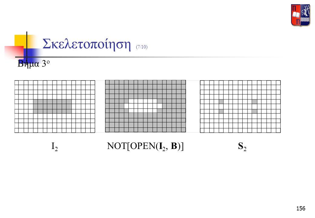 156 Σκελετοποίηση (7/10) Βήμα 3 ο NOT[OPEN(I 2, B)]Ι2Ι2 S2S2