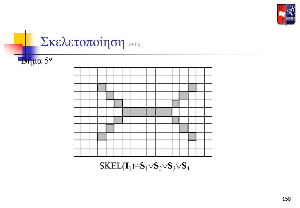 158 Σκελετοποίηση (9/10) Βήμα 5 ο SKEL(I 0 )=S 1  S 2  S 3  S 4