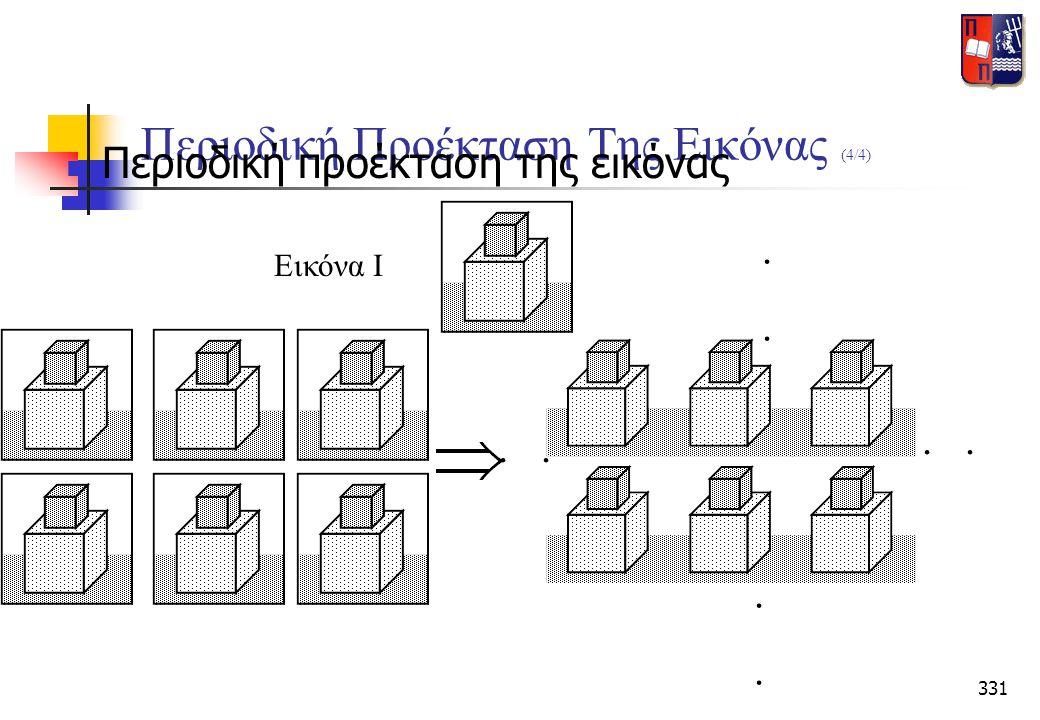 331 Περιοδική Προέκταση Της Εικόνας (4/4)  Περιοδική προέκταση της εικόνας......... Εικόνα Ι