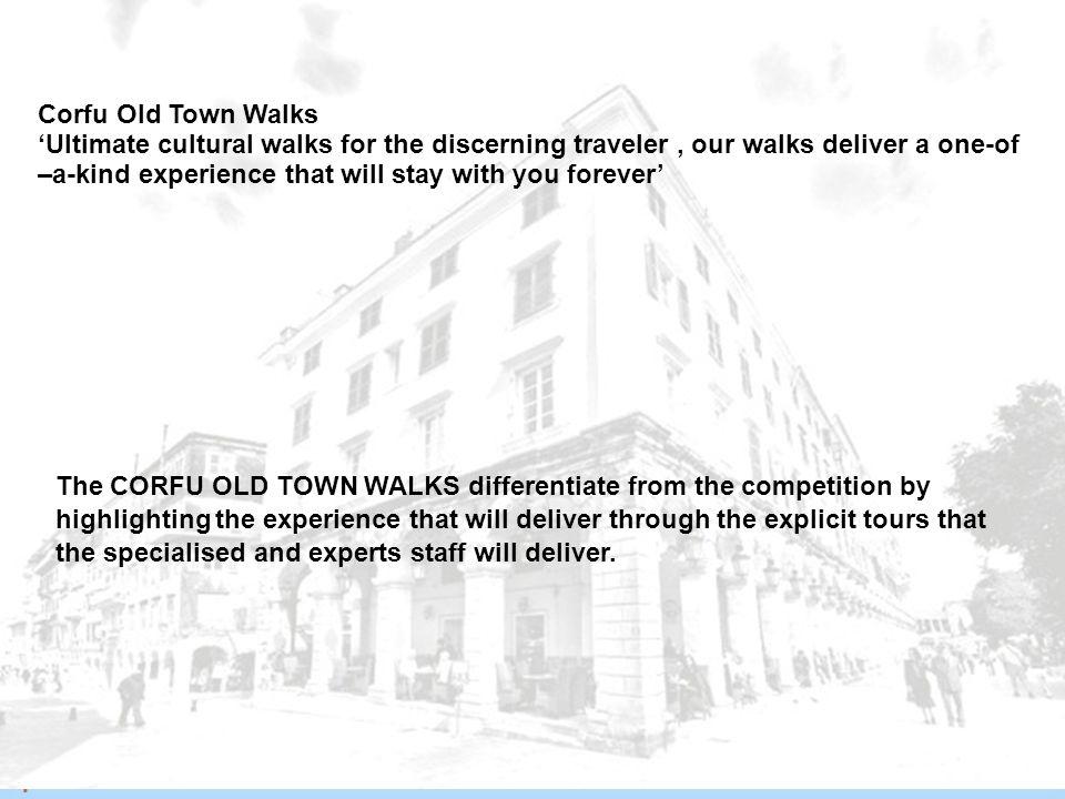 Περίπτωση Παλιάς Πόλης της Κέρκυρας Corfu Old Town Walks  Μελέτη μάρκετινγκ  Δημιουργία «εμπορικής ταυτότητας - brand» γύρω από μνημείο και τους διά