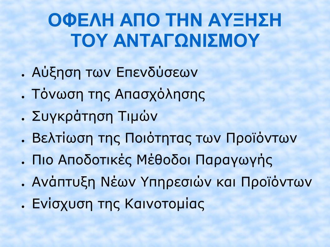 ΑΝΟΙΓΜΑ ΑΓΟΡΩΝ & ΕΝΙΣΧΥΣΗ ΑΝΤΑΓΩΝΙΣΜΟΥ 1.