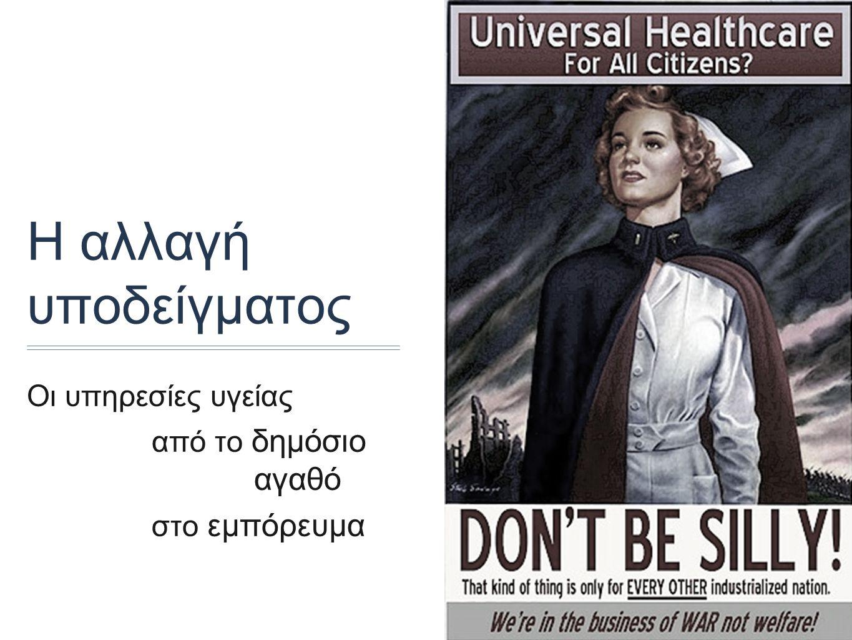 Η αλλαγή υποδείγματος Οι υπηρεσίες υγείας από το δημόσιο αγαθό στο εμπόρευμα