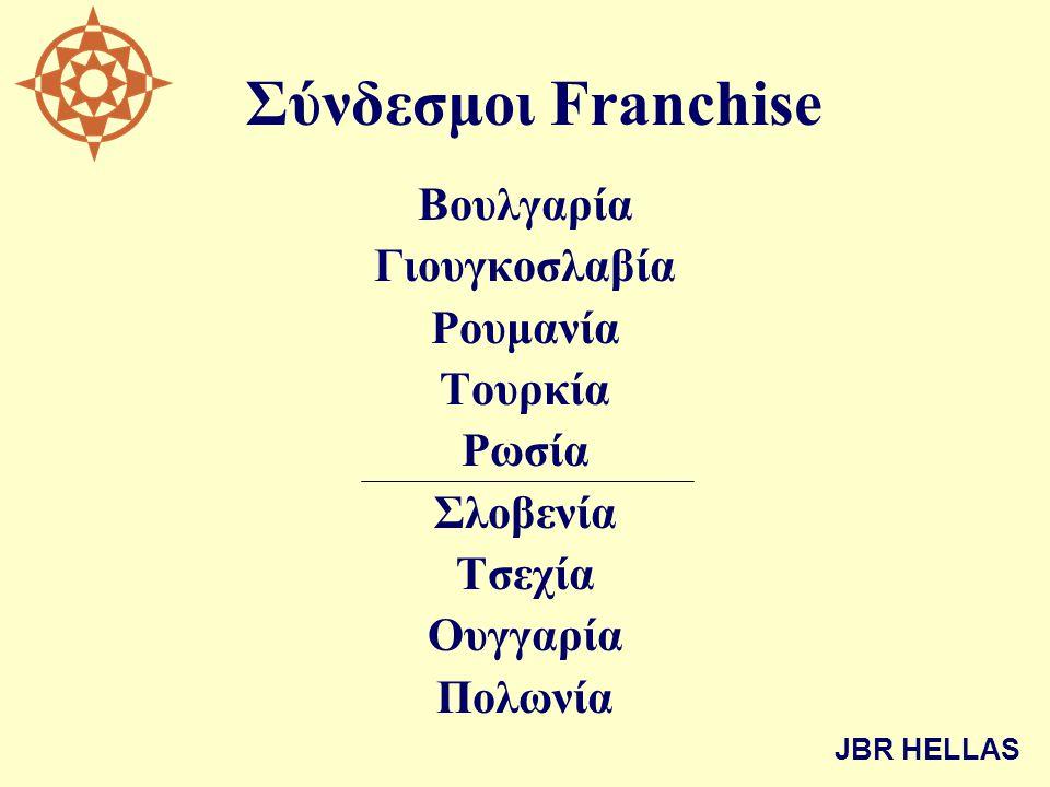 Σύνδεσμοι Franchise Βουλγαρία Γιουγκοσλαβία Ρουμανία Τουρκία Ρωσία Σλοβενία Τσεχία Ουγγαρία Πολωνία JBR HELLAS