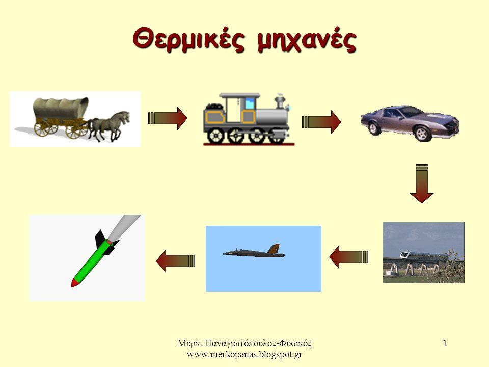 Μερκ. Παναγιωτόπουλος-Φυσικός www.merkopanas.blogspot.gr 1 Θερμικές μηχανές