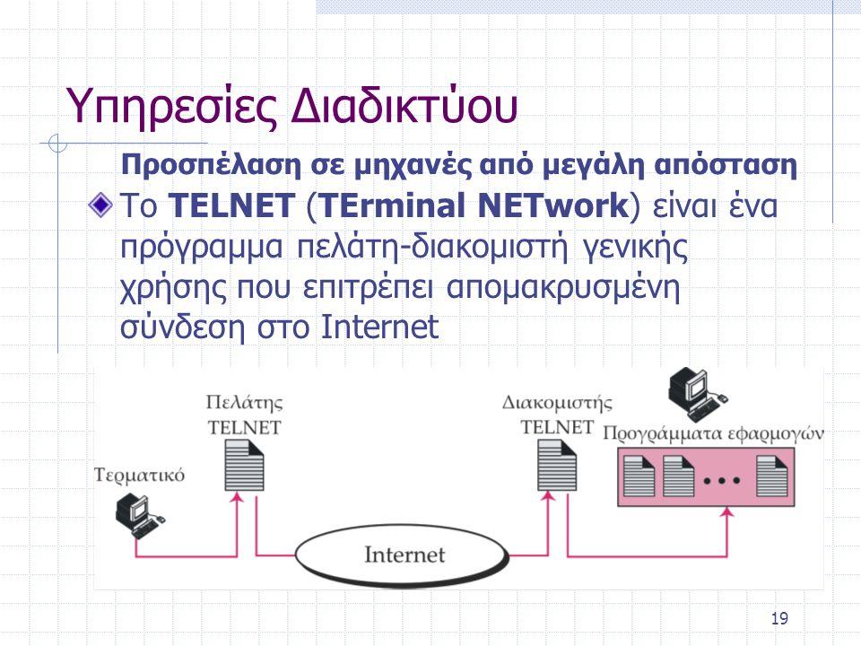 Παγκόσμιος Ιστός Όταν τα τμήματα διαφόρων υπερμεσικών εγγράφων συνδέονται με άλλα σχετικά έγγραφα, τα οποία μπορεί και να βρίσκονται σε διαφορετικούς υπολογιστές, τότε δημιουργείται ένας Παγκόσμιος διαδικτυακός Ιστός.