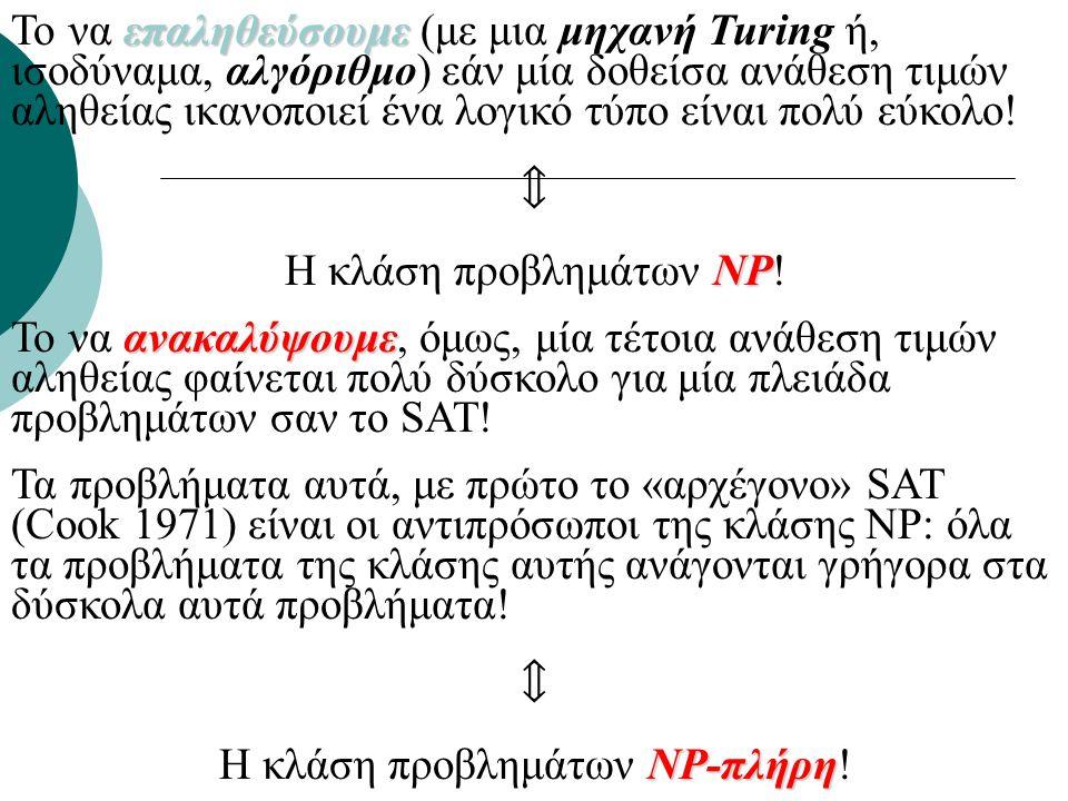 Υπολογιστική δυσκολία και τα αίτιά της 3-SAT ή εύρεση σχηματισμού ελάχιστης ενέργειας: NP-Πλήρη προβλήματα.