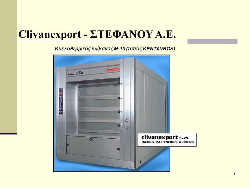 23 Βοηθητικός εξοπλισμός αρτοποιείων - ζαχαροπλαστείων Clivanexport - ΣΤΕΦΑΝΟΥ Α.Ε.