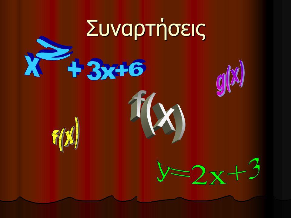 Ας φανταστούμε μια «μηχανή» που τις βάζουμε αριθμούς Ότι σου δίνουν πολλαπλασίασέ το επι 3 και μετα πρόσθεσέ του το 2 3 11 Συναρτήσεις