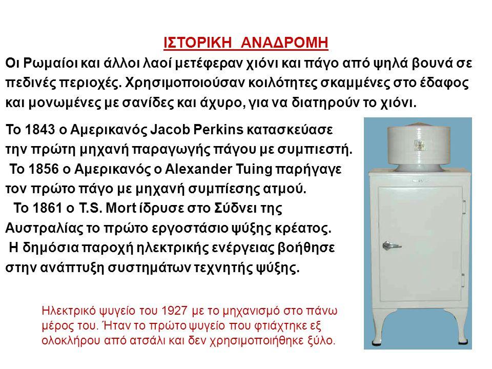 Ένα ψυγείο περιλαμβάνει δύο χώρους: 1.