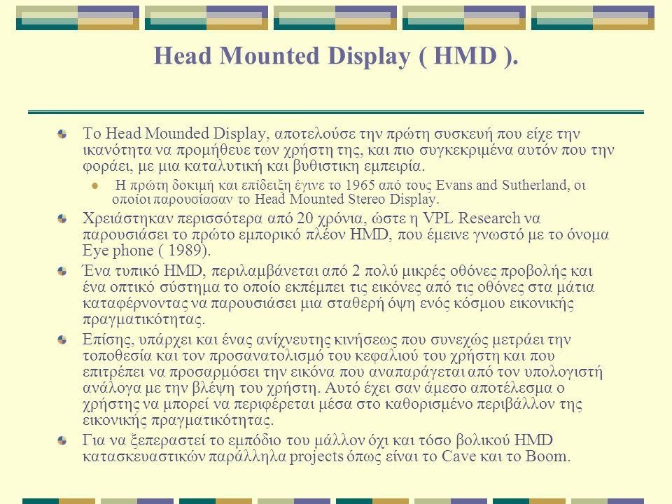 Head Mounted Display ( HMD ).