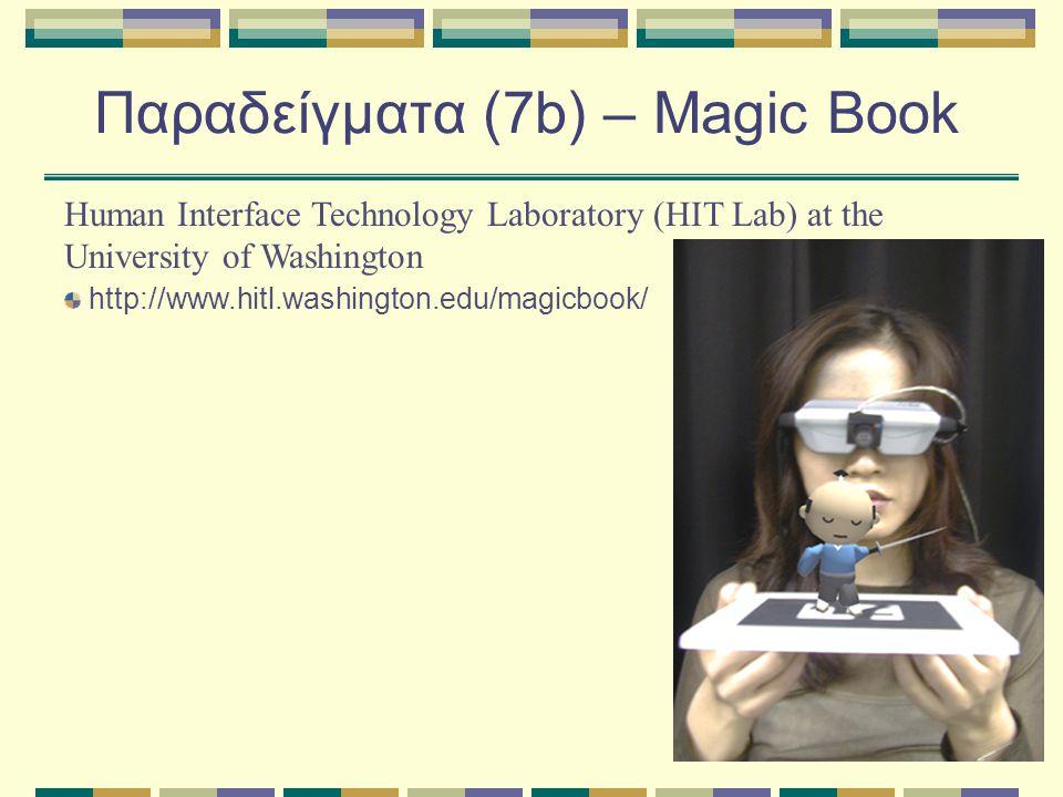 Παραδείγματα (7b) – Magic Book Human Interface Technology Laboratory (HIT Lab) at the University of Washington http://www.hitl.washington.edu/magicbook/