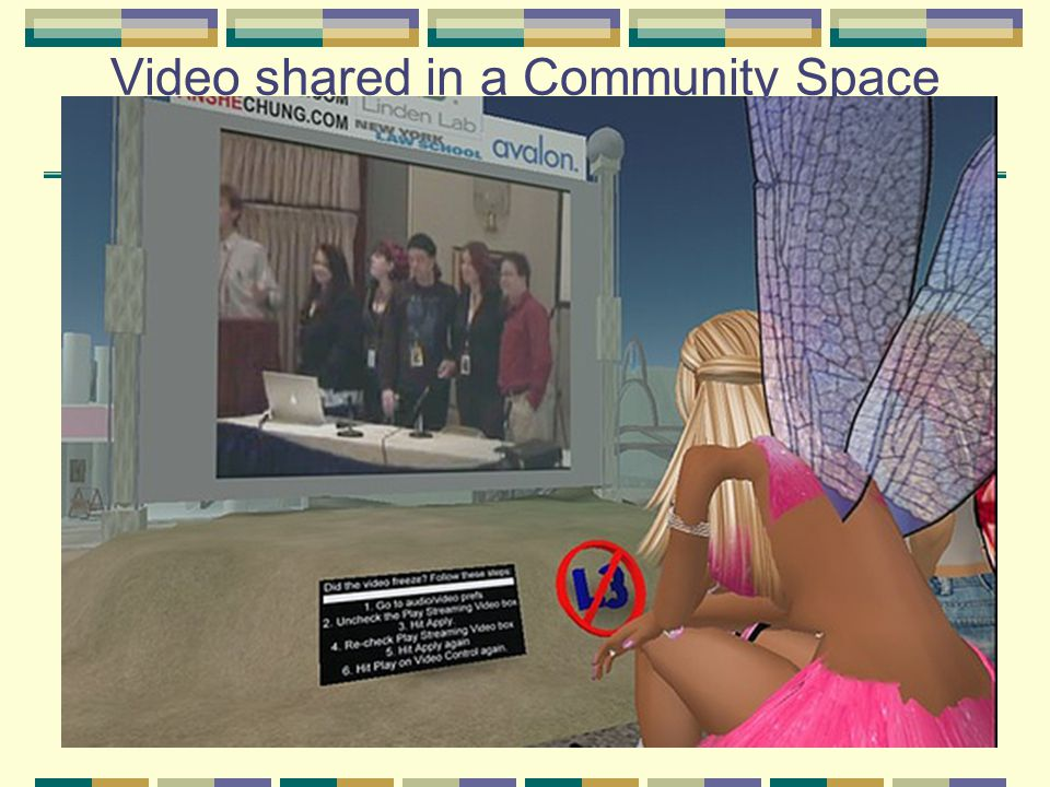 Video shared in a Community Space