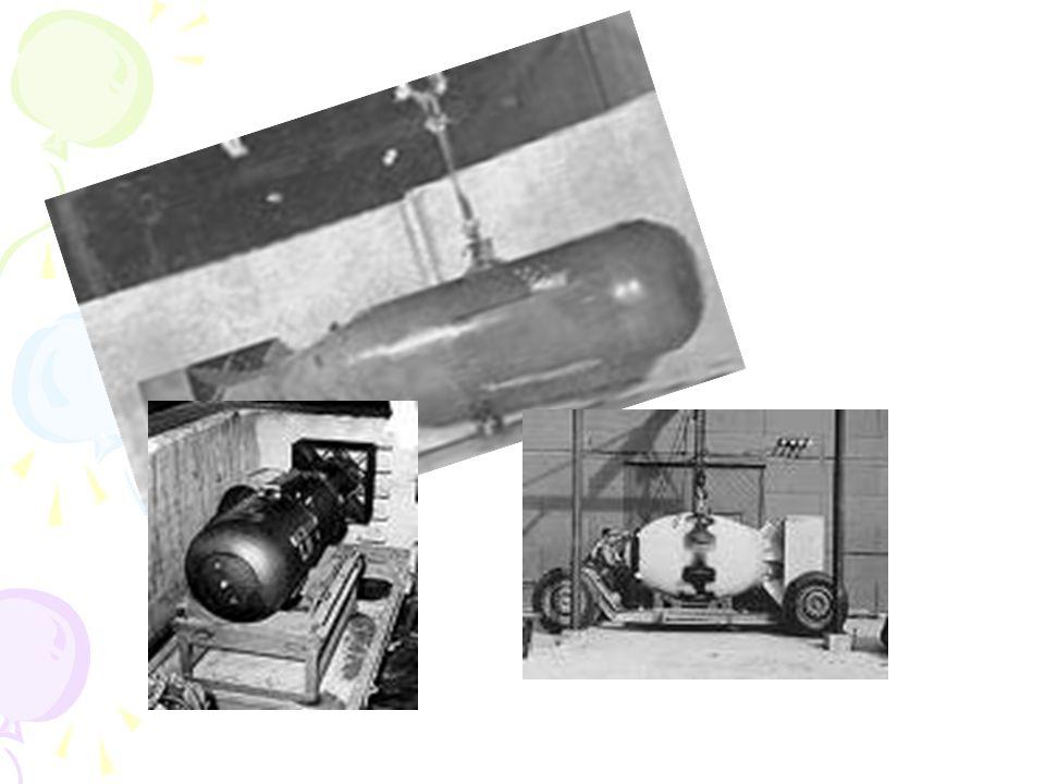 •Ύψος:10.6 μέτρα •Βάρος:14 τόνοι και 50 κιλά •Διάμετρος:29 ίντσες •Πάχος:9,700 •Περιείχε ένα μηχανισμό που αποτελούσε μια παρά πολύ μικρή εκρηκτική μηχανή, που αφού έσκαγε θα άφηνε ελεύθερη μια σφαίρα που θα περνούσε μέσα από ένα σωλήνα και 8α κατέληγε στον εκρηκτικό πυρήνα με αποτέλεσμα την έκρηξη.