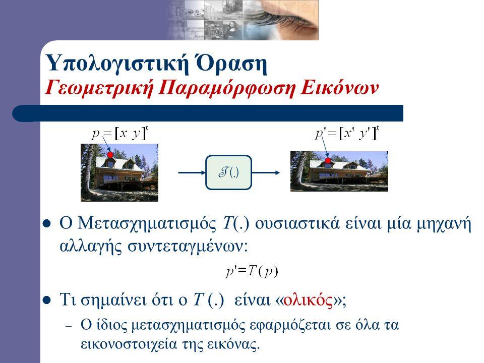 Υπολογιστική Όραση Παραμόρφωση Εικόνων T (.)