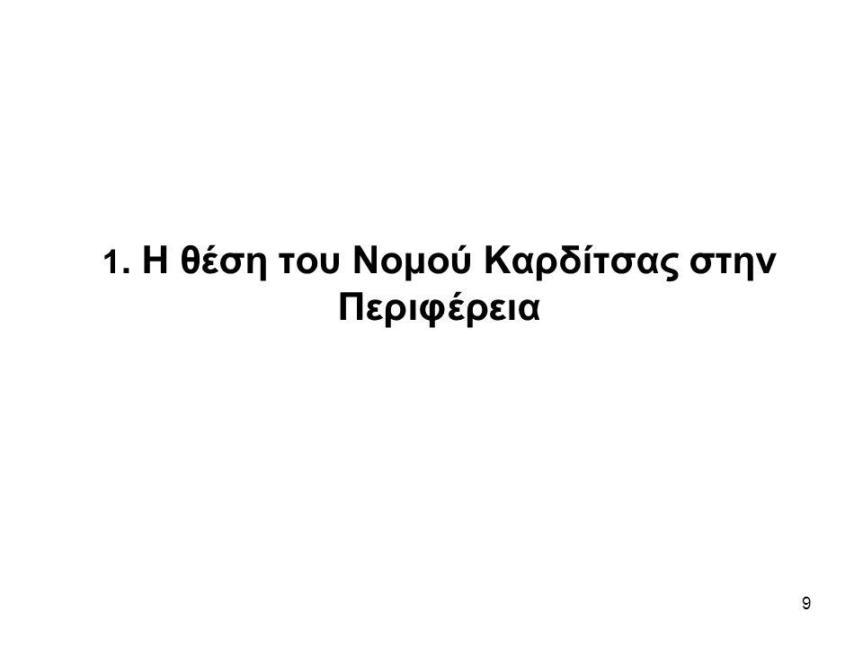10 Καρδίτσα-Θεσσαλία Η χωροταξική προσέγγιση του Νομού Καρδίτσας, θα πρέπει να λάβει υπόψη τις προοπτικές ενός ευρύτερου χωροταξικού περιφερειακού σχεδίου με έμφαση τη Δυτική Θεσσαλία, η διαμόρφωση του οποίου την αφορά.