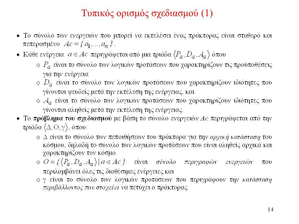 14 Τυπικός ορισμός σχεδιασμού (1)
