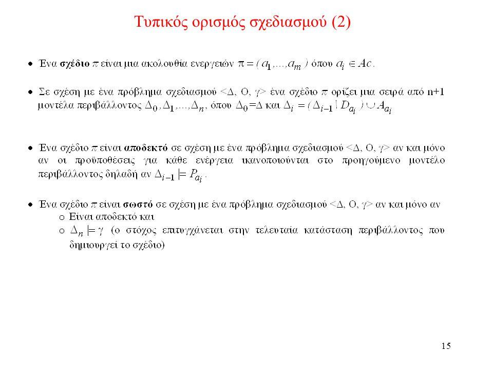 15 Τυπικός ορισμός σχεδιασμού (2)