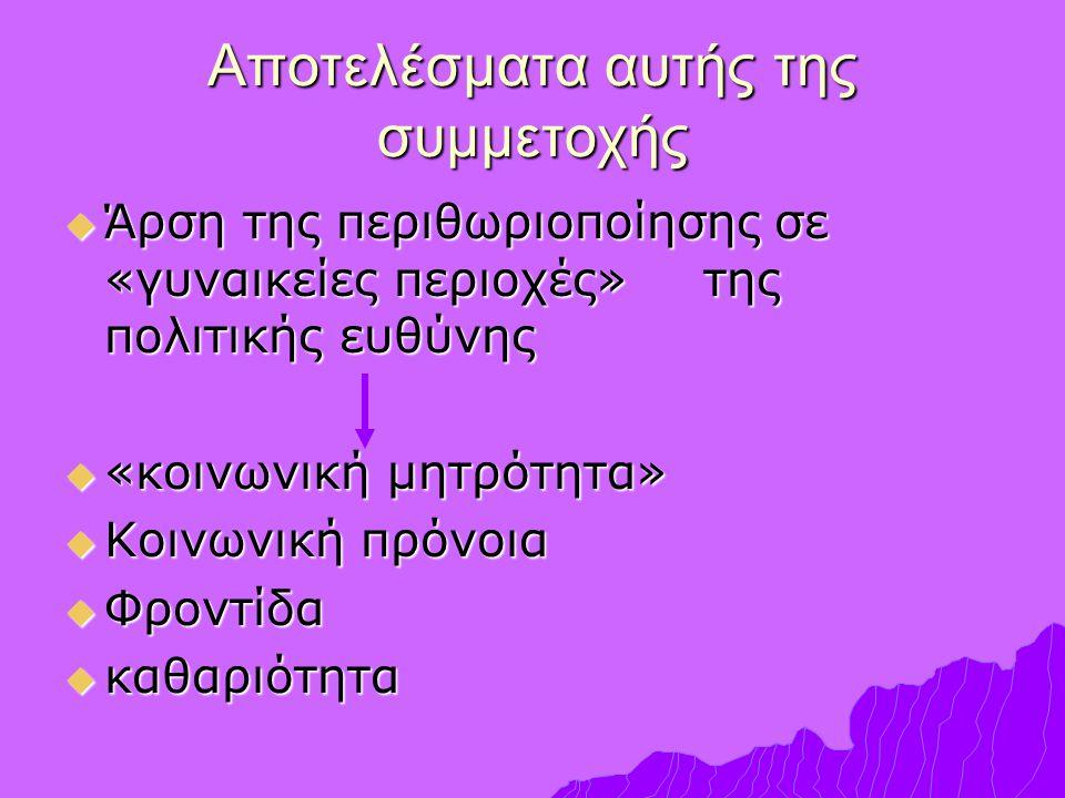 Γραμματεία Ισότητας Επιτροπή ΚΕΔΚΕ Επιτροπή Ισότητας •Αιρετές •Εμπειρογνώμονες σε θέματα φύλου Γραφεία Ισότητας ΠΕΙ Γραφείο Ισότητας Συμβουλευτική Ενημέρωση Ευαισθητοποίηση Σεμινάρια Εξειδίκευση οδηγού για την ενσωμάτωση της οπτικής του φύλου στο σχεδιασμό των πολιτικών σε Τοπικό Επίπεδο ΔΙΚΤΥΩΣΗ Φορείς ΜΚΟ ΔΣ ΔΗΜΟΥ Γραφεία Ισότητας Νομαρχιακή Επιτροπή Ισότητας ΔΣ ΕΝΑΕ ΔΣ ΚΕΔΚΕ Νομαρχιακό Συμβούλιο ΜΗΧΑΝΙΣΜΟΙ ΚΑΙ ΟΡΓΑΝΑ ΣΤΗΝ ΥΠΗΡΕΣΙΑ ΤΗΣ ΙΣΟΤΗΤΑΣ