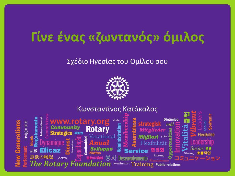 Γίνε ένας «ζωντανός» όμιλος Σχέδιο Ηγεσίας του Ομίλου σου Κωνσταντίνος Κατάκαλος