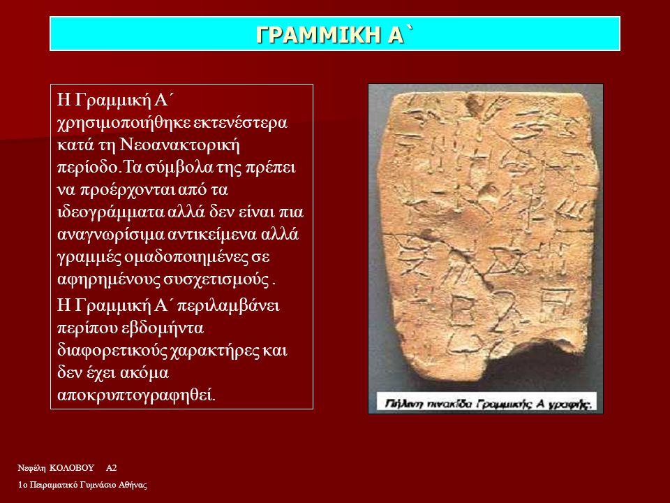 ΙΕΡΟΓΛΥΦΙΚΑ Στην Aίγυπτο του 3000 π.X.