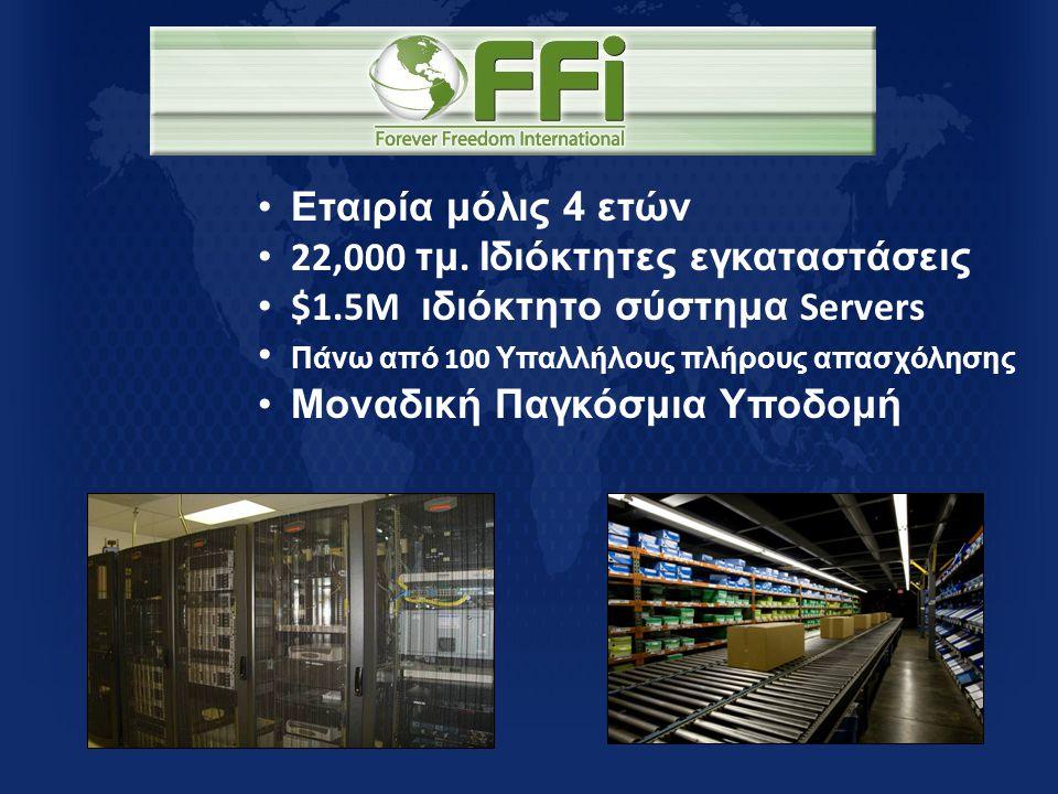 • Εταιρία μόλις 4 ετών • 22,000 τμ. Ιδιόκτητες εγκαταστάσεις • $1.5M ιδιόκτητο σύστημα Servers • Πάνω από 100 Υπαλλήλους πλήρους απασχόλησης • Μοναδικ