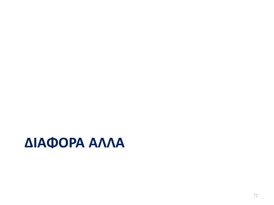 ΔΙΑΦΟΡΑ ΑΛΛΑ 72