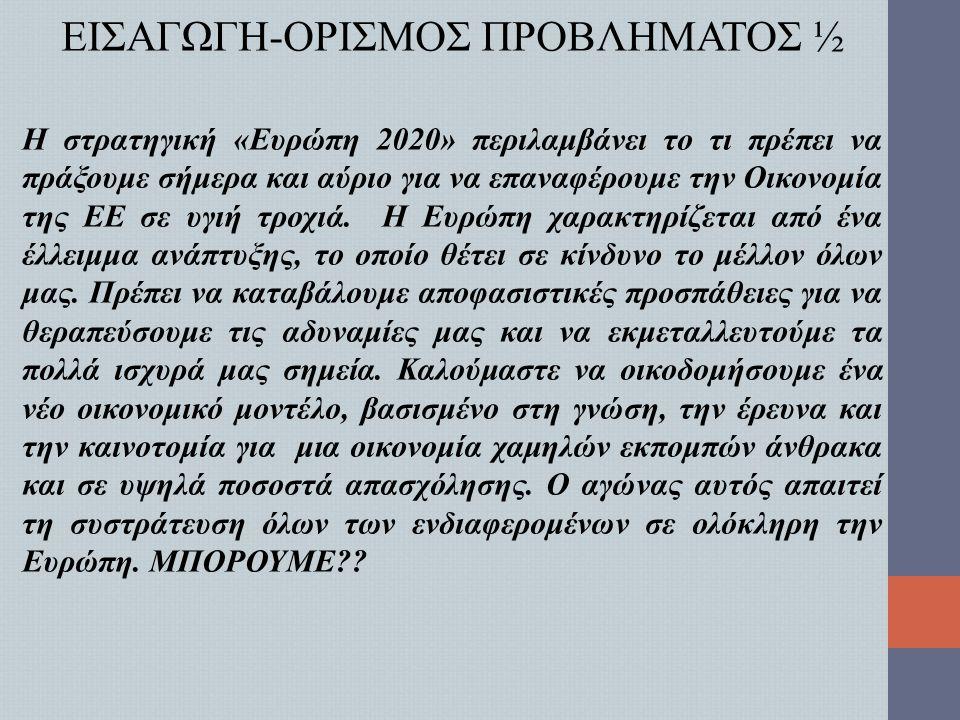 ΕΙΣΑΓΩΓΗ-ΟΡΙΣΜΟΣ ΠΡΟΒΛΗΜΑΤΟΣ 2/2 HORIZON 2020?.ΠΙΘΑΝΗ ΛΥΣΗ?.