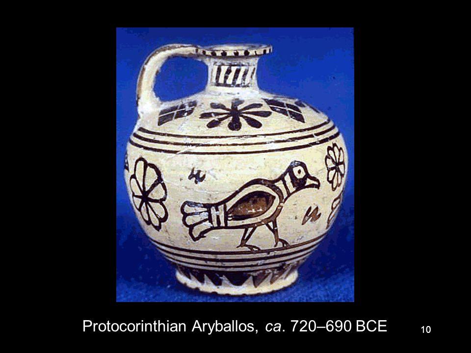 10 Protocorinthian Aryballos, ca. 720–690 BCE