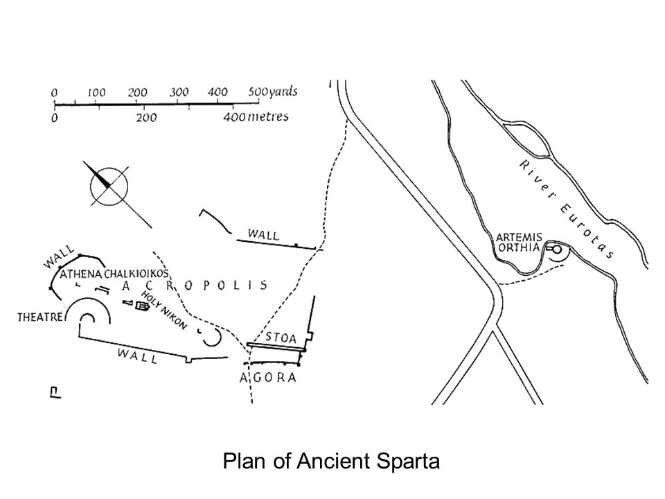 11 Plan of Ancient Sparta