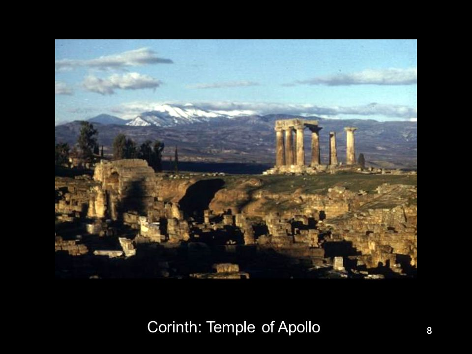 8 Corinth: Temple of Apollo