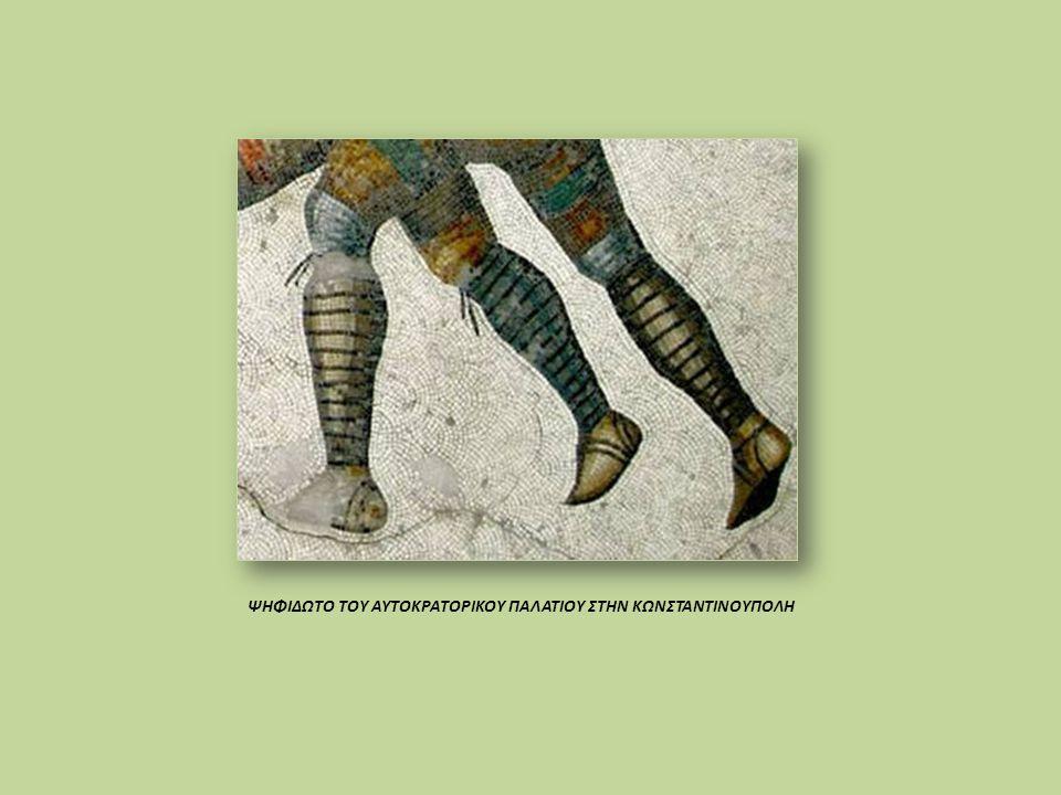 Οι αξιωματικοί φορούσαν παπούτσια χρώματος, ανάλογα με το αξίωμα τους: πράσινο, μπλε, κιτρινωπό, χρυσό.