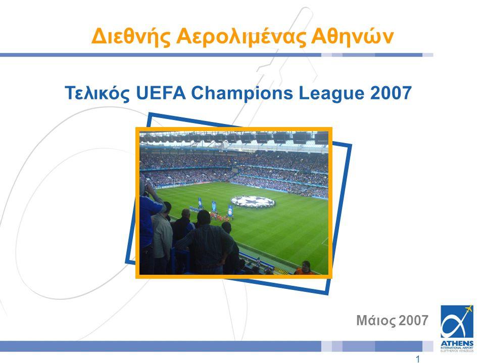 1 Τελικός UEFA Champions League 2007 Μάιος 2007 Διεθνής Αερολιμένας Αθηνών