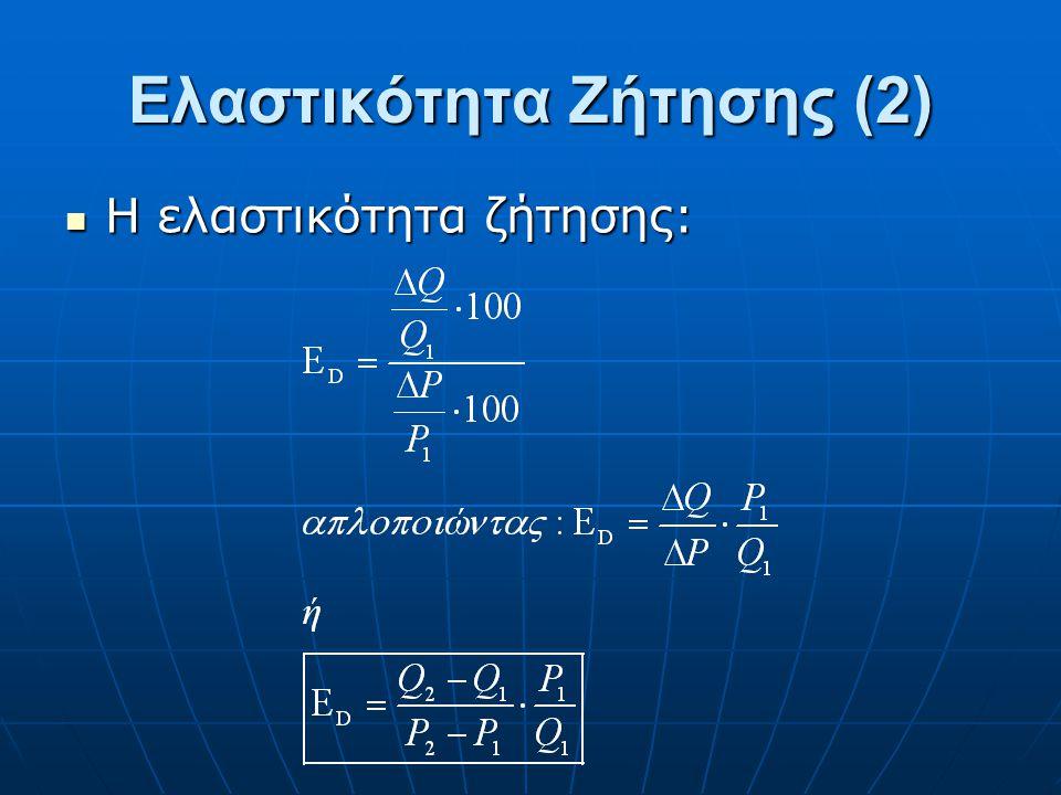 Ορίζεται ως η ποσοστιαία μεταβολή της ζητούμενης ποσότητας προς την ποσοστιαία μεταβολή της τιμής. Ορίζεται ως η ποσοστιαία μεταβολή της ζητούμενης πο