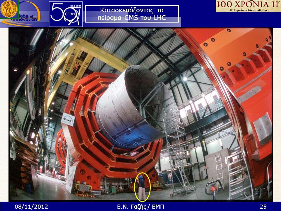 Κατασκευάζοντας το πείραμα CMS του LHC 08/11/201225Ε.Ν. Γαζής / ΕΜΠ