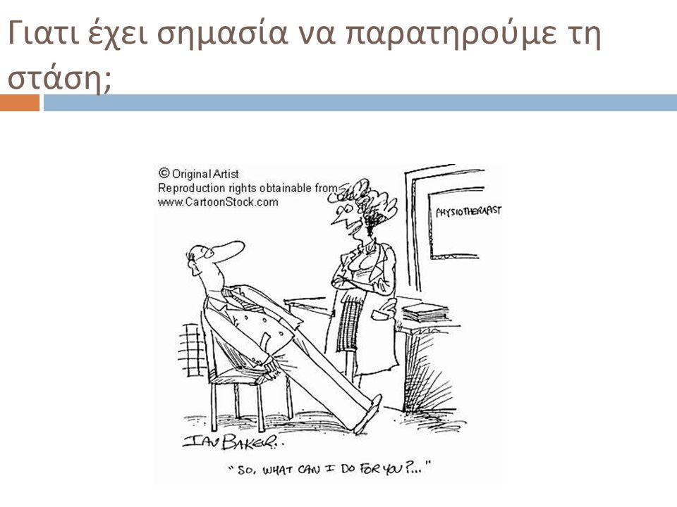 Γιατι έχει σημασία να παρατηρούμε τη στάση ; IST/UH K ινησιολογικές M ελέτες 2010-2011