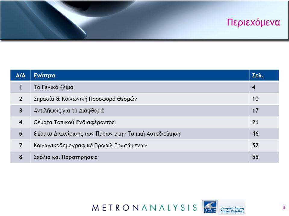 Κοινωνικοδημογραφικό προφίλ ερωτώμενων (2) 54 % %