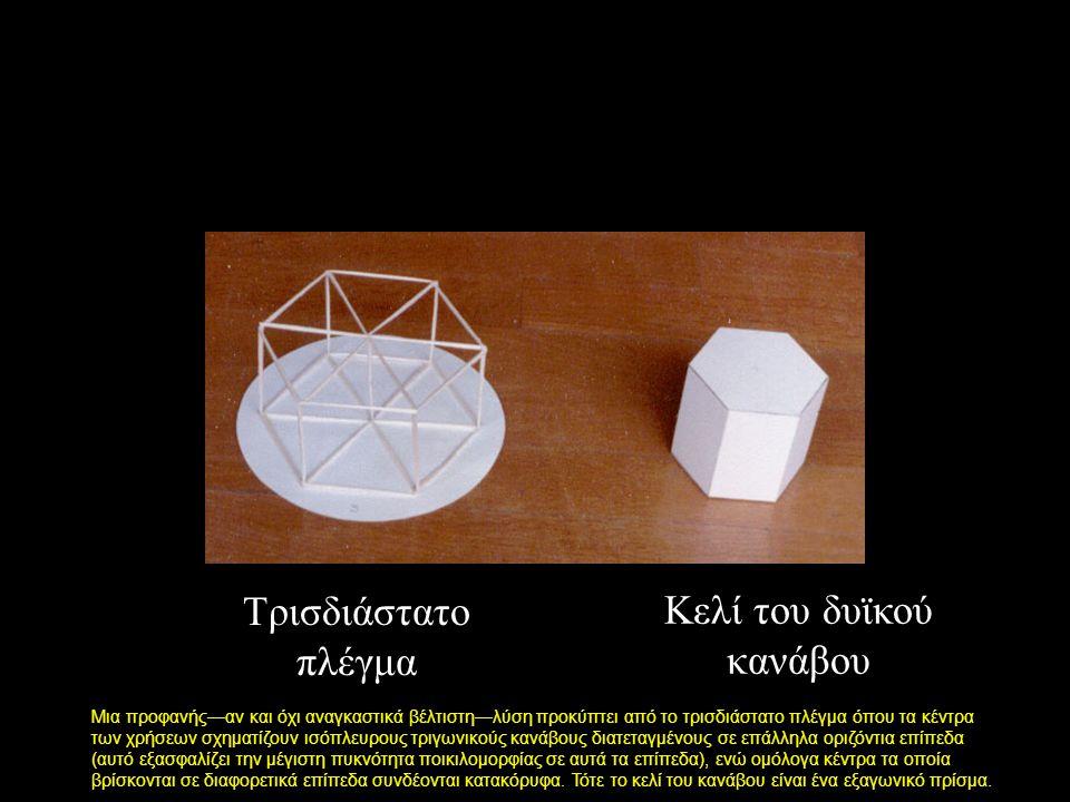 Μια προφανής—αν και όχι αναγκαστικά βέλτιστη—λύση προκύπτει από το τρισδιάστατο πλέγμα όπου τα κέντρα των χρήσεων σχηματίζουν ισόπλευρους τριγωνικούς