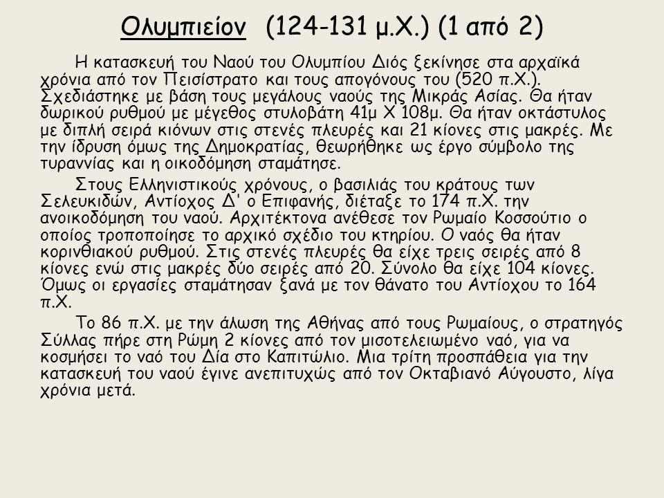 Κάτοψη του Ολυμπιείου και των νοτίων ιερών.