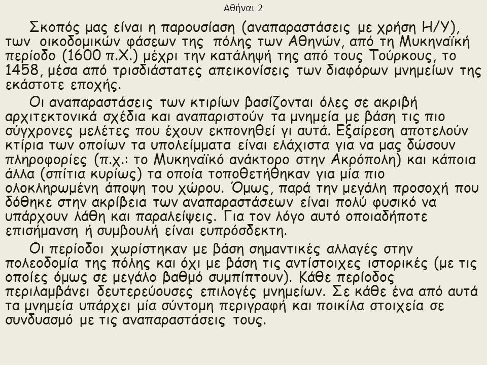 ΑΘΗΝΑΙ Καλώς ορίσατε στην τρισδιάστατη αναπαράσταση της Αρχαίας Αθήνας! Φεβρουάριος 2009 Haris B.