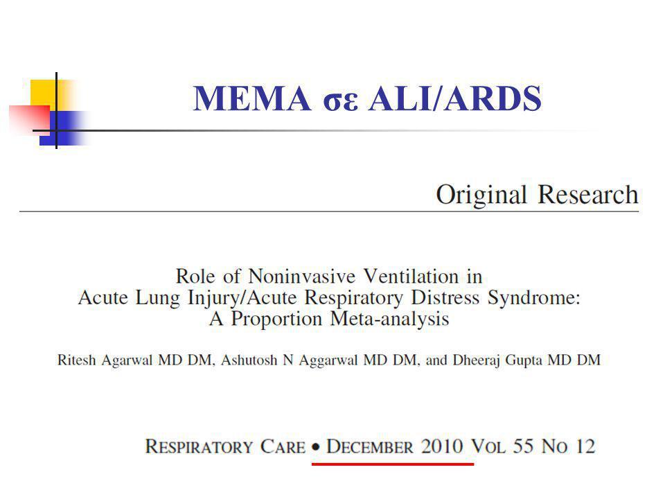 MEMA σε do not intubate ασθενείς Levy M, et al.