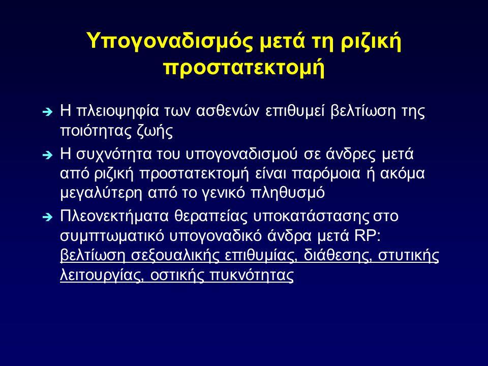 Θεραπεία υποκατάστασης σε πληθυσμό υψηλού κινδύνου Rhoden EL, Morgentaler A.