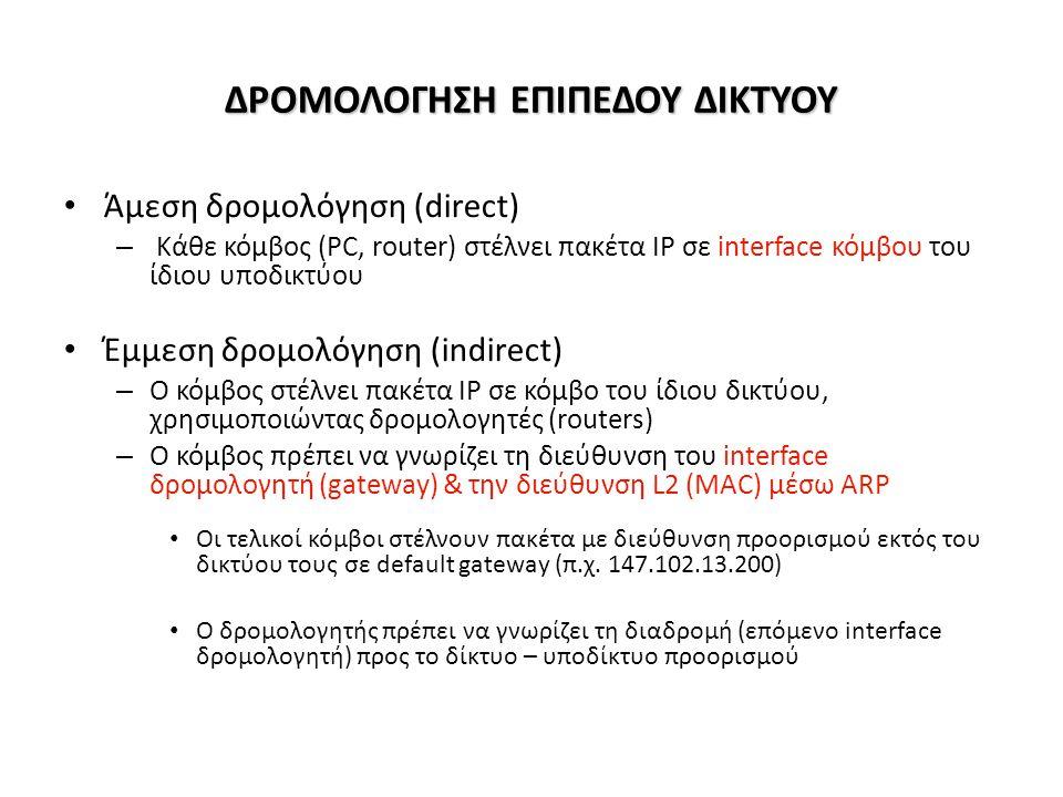 Path attributes και BGP routes • Ανακοινούμενο prefix περιλαμβάνει BGP attributes.