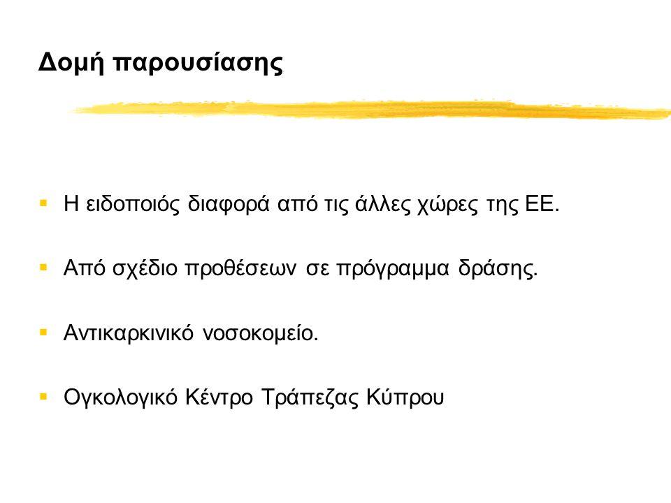 Δομή παρουσίασης  Η ειδοποιός διαφορά από τις άλλες χώρες της ΕΕ.