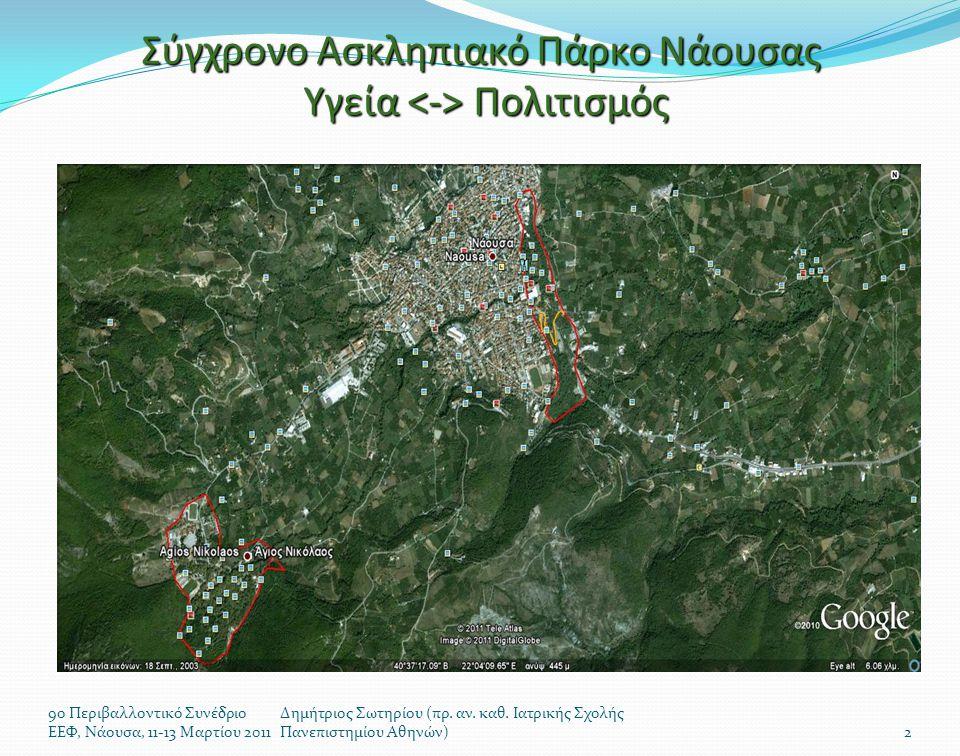  Ιστορική απόφαση του ΔΣ Νάουσας, να μετατρέψει την περιοχή πέριξ του Γενικού Νοσοκομείου, σε ΣΑΠ  Κάλεσμα – «Θεμέλιος Λίθος» σήμερα 12 Μαρτίου 2011  Απόφαση για τη συγκρότηση Επιτροπής Διαχείρισης και Ανάπτυξης – ανάθεση διαμόρφωσης στρατηγικού σχεδιασμού  Πρόσκληση φορέων της Πόλεως να συμμετάσχουν στο εγχείρημα  Έκκληση στους πολίτες της Νάουσας να ενστερνιστούν την ιδέα και να κάνουν χρήση των υπηρεσιών  Δημιουργία ιστοσελίδων (άμεσο) και Έκδοση ειδικού φυλλαδίου (το ταχύτερο) 9ο Περιβαλλοντικό Συνέδριο ΕΕΦ, Νάουσα, 11-13 Μαρτίου 2011 Δημήτριος Σωτηρίου (πρ.