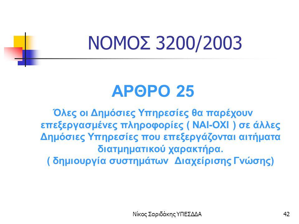 Νίκος Σαριδάκης ΥΠΕΣΔΔΑ43 ΔΙΑΛΕΙΤΟΥΡΓΙΚΟΤΗΤΑ Όλες οι δημόσιες υπηρεσίες θα χρησιμοποιούν κοινό πλαίσιο αναφοράς για τη διακίνηση πληροφοριών και τη διασύνδεση Διοικητικών και Πληροφοριακών συστημάτων.