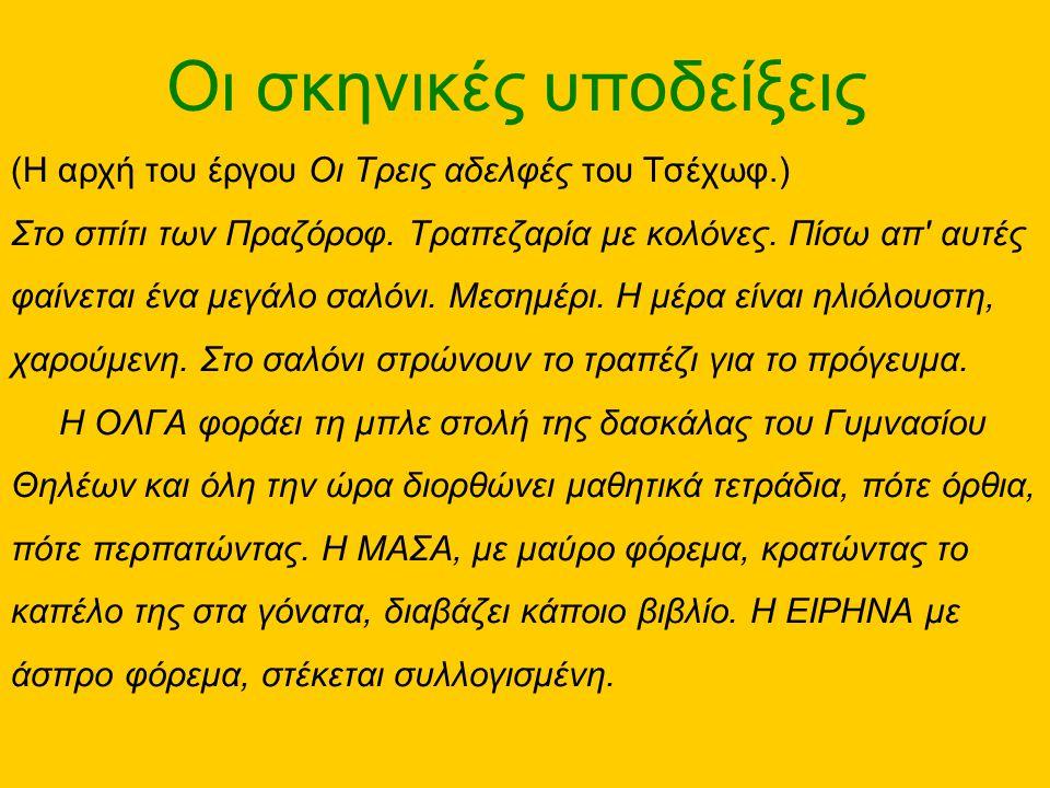 •Από το Βυσσινόκηπο του Τσέχωφ: •Όλοι μιλούν για μελλοντικό γάμο του Λοπάχιν με τη Βάρια… •Μόνος του ο Λοπάχιν, με την Λιούμπα, λέει: ΛΟΠΑΧΙΝ: Αν προφταίνουμε ακόμα, εγώ είμαι πρόθυμος, και τώρα δα....