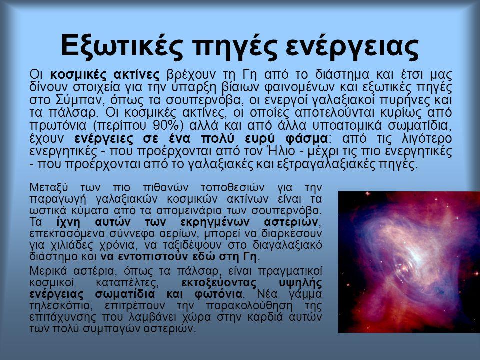 Οι κοσμικές ακτίνες βρέχουν τη Γη από το διάστημα και έτσι μας δίνουν στοιχεία για την ύπαρξη βίαιων φαινομένων και εξωτικές πηγές στο Σύμπαν, όπως τα