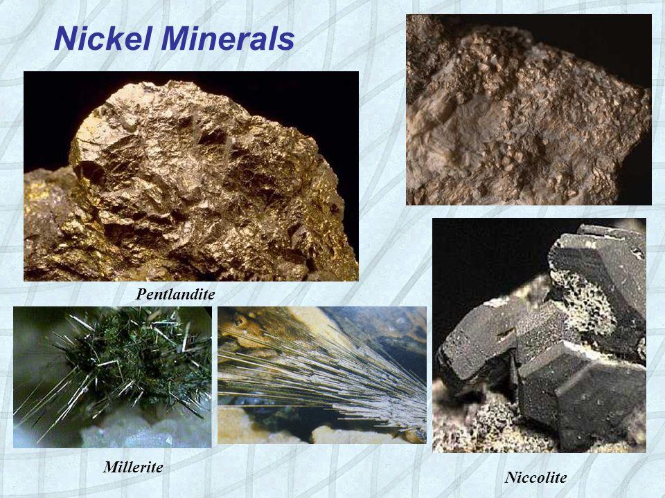 Nickel Minerals Millerite Pentlandite Niccolite